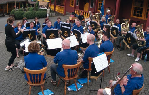 Concert of the Newland Concert Brass in the Fort Fun adventure park, 2010.