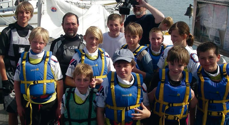 Members of the youth sailing exchange 2009
